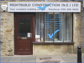 Right Build Construction (N.E.) Ltd: quality builders in Gateshead - our office.