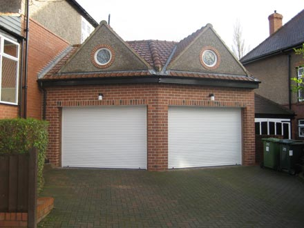 An example of our work - double garage with room above.