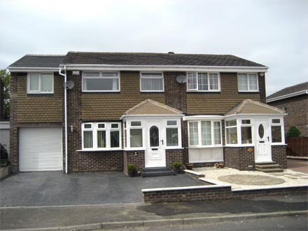 An example of our work - double extension with 2 porches.